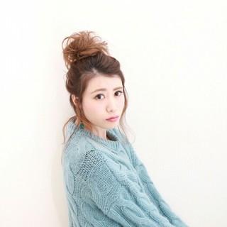 大人女子 ガーリー ショート 簡単ヘアアレンジ ヘアスタイルや髪型の写真・画像