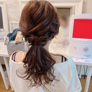 デート エレガント ヘアアレンジ 結婚式 ヘアスタイルや髪型の写真・画像