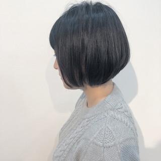 グレージュ ショート ナチュラル ショートボブ ヘアスタイルや髪型の写真・画像