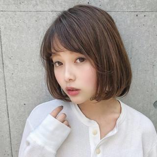 アウトドア デート ヘアアレンジ ボブ ヘアスタイルや髪型の写真・画像