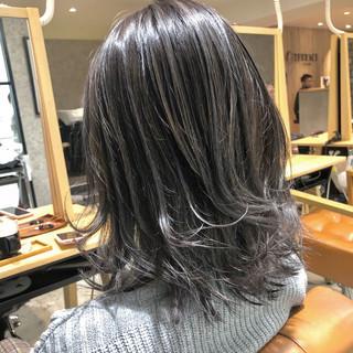 ブリーチ必須 ダメージレス ミディアム 透明感カラー ヘアスタイルや髪型の写真・画像