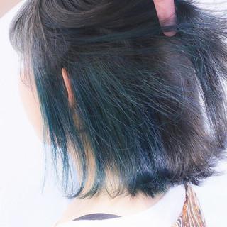 ボブ ストリート グラデーションカラー ダブルカラー ヘアスタイルや髪型の写真・画像