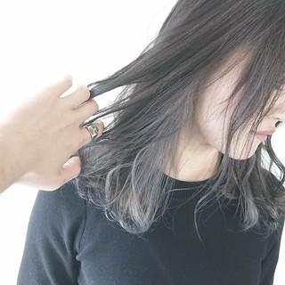 モード インナーカラー ヘアカラー ウルフカット ヘアスタイルや髪型の写真・画像