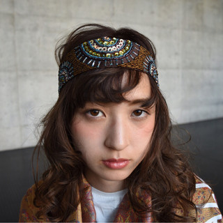 外国人風 ハーフアップ ショート ヘアアレンジ ヘアスタイルや髪型の写真・画像