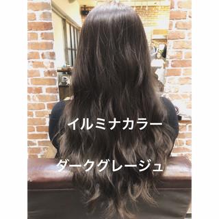 ショコラブラウン パーマ ロング アンニュイほつれヘア ヘアスタイルや髪型の写真・画像