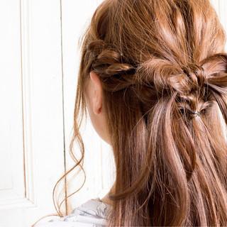 編み込み ヘアアレンジ ロング ツイスト ヘアスタイルや髪型の写真・画像