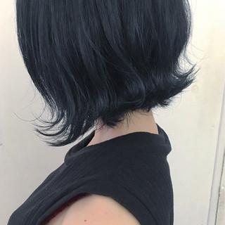ストリート ブルージュ 暗髪 ブルー ヘアスタイルや髪型の写真・画像