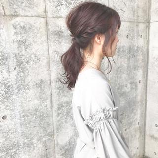ヘアアレンジ ショート 簡単 ナチュラル ヘアスタイルや髪型の写真・画像