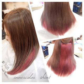グラデーションカラー インナーカラー ナチュラル 個性的 ヘアスタイルや髪型の写真・画像