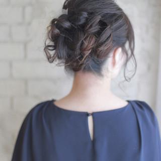 パーティ ゆるふわ ロング 結婚式 ヘアスタイルや髪型の写真・画像