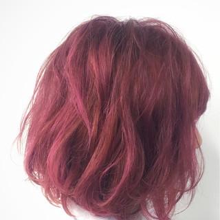 ブリーチ ボブ ストリート ピンクアッシュ ヘアスタイルや髪型の写真・画像