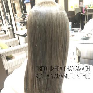 艶髪 ハイライト ナチュラル ロング ヘアスタイルや髪型の写真・画像