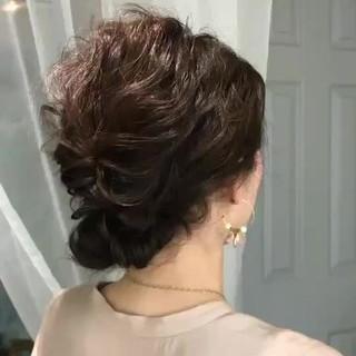 結婚式 ヘアアレンジ ゆるふわ エレガント ヘアスタイルや髪型の写真・画像