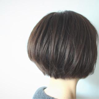 ナチュラル アッシュベージュ 大人女子 ボブ ヘアスタイルや髪型の写真・画像
