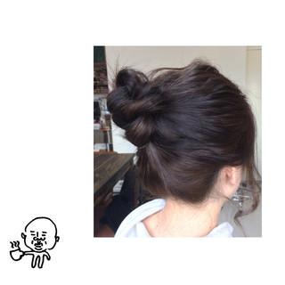 簡単ヘアアレンジ ナチュラル ヘアアレンジ ミディアム ヘアスタイルや髪型の写真・画像