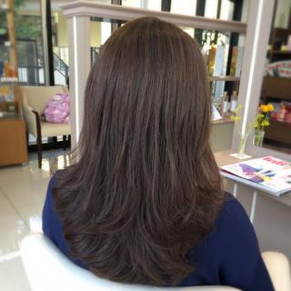 フェミニン グレージュ 暗髪 デート ヘアスタイルや髪型の写真・画像