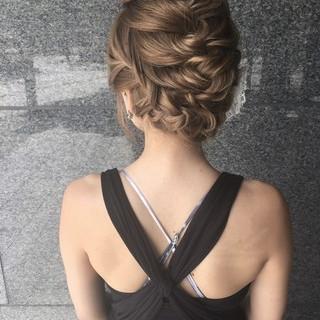 ヘアアレンジ 結婚式 上品 エレガント ヘアスタイルや髪型の写真・画像
