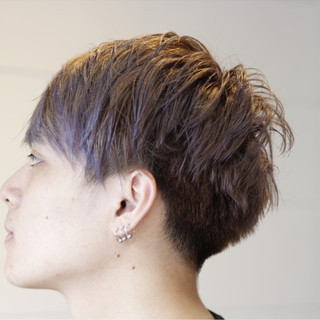 マッシュ アッシュ ボーイッシュ ストリート ヘアスタイルや髪型の写真・画像