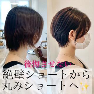 ショート インナーカラー ベリーショート ショートヘア ヘアスタイルや髪型の写真・画像