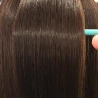 ストレート ナチュラル 艶髪 ミディアム ヘアスタイルや髪型の写真・画像