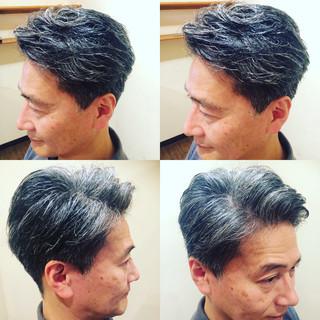 ショート 坊主 黒髪 パーマ ヘアスタイルや髪型の写真・画像