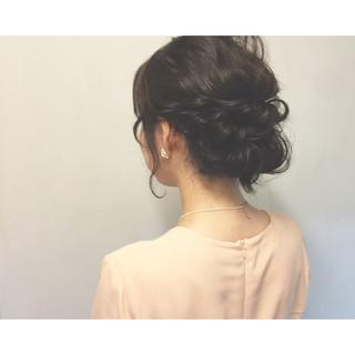 お祭り ショート セミロング まとめ髪 ヘアスタイルや髪型の写真・画像