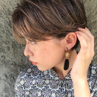 透明感 秋 ショート ナチュラル ヘアスタイルや髪型の写真・画像