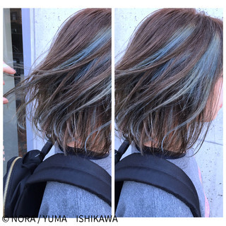 ブルージュ ボブ ストリート ブルー ヘアスタイルや髪型の写真・画像