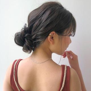 デート ヘアアレンジ ハイライト ミディアム ヘアスタイルや髪型の写真・画像
