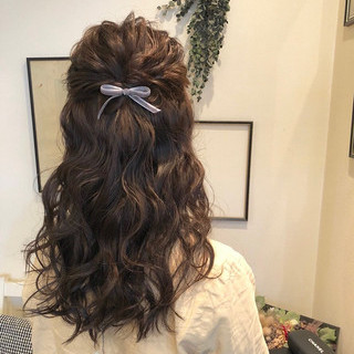 ヘアアレンジ ロング ヘアセット エレガント ヘアスタイルや髪型の写真・画像