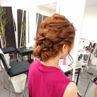 夏 色気 結婚式 上品 ヘアスタイルや髪型の写真・画像