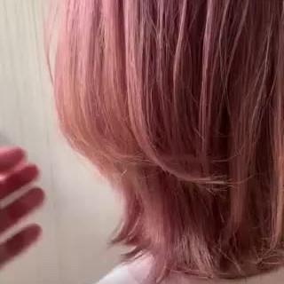 ナチュラル ピンク 外国人風 インナーカラー ヘアスタイルや髪型の写真・画像