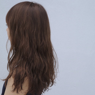 ナチュラル ゆるふわ パーマ セミロング ヘアスタイルや髪型の写真・画像