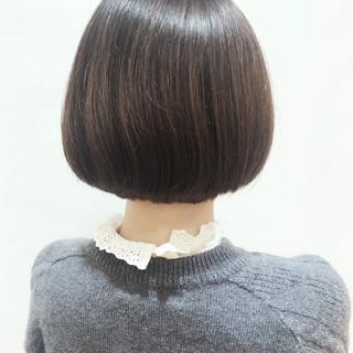 ボブ デート フェミニン ショート ヘアスタイルや髪型の写真・画像