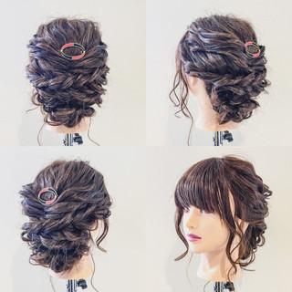 セミロング ルーズ 簡単 簡単ヘアアレンジ ヘアスタイルや髪型の写真・画像