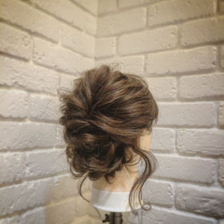 セミロング ショート 外国人風 ヘアアレンジ ヘアスタイルや髪型の写真・画像