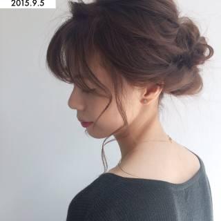 外国人風 ゆるふわ ナチュラル ヘアアレンジ ヘアスタイルや髪型の写真・画像