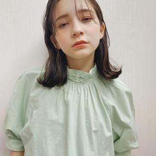 ゆるふわ 大人カジュアル 外国人風フェミニン 大人ミディアム ヘアスタイルや髪型の写真・画像