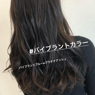 ウェーブ 外国人風 オフィス ロング ヘアスタイルや髪型の写真・画像