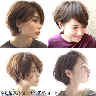 大人女子 ナチュラル ショート 大人かわいい ヘアスタイルや髪型の写真・画像