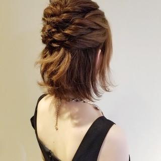 エレガント デート 結婚式ヘアアレンジ 簡単ヘアアレンジ ヘアスタイルや髪型の写真・画像
