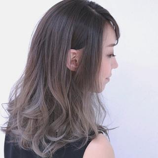 グラデーションカラー ボブ 大人かわいい 外国人風 ヘアスタイルや髪型の写真・画像