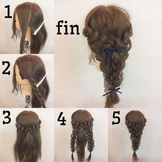 簡単ヘアアレンジ ヘアアレンジ 大人女子 編み込み ヘアスタイルや髪型の写真・画像