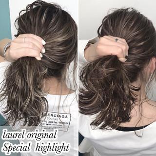 セミロング 外国人風 グラデーションカラー 外国人風カラー ヘアスタイルや髪型の写真・画像