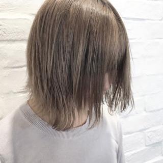 ハイライト ナチュラル ボブ ハイトーン ヘアスタイルや髪型の写真・画像
