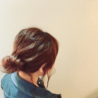ボブ ショート 簡単ヘアアレンジ 波ウェーブ ヘアスタイルや髪型の写真・画像