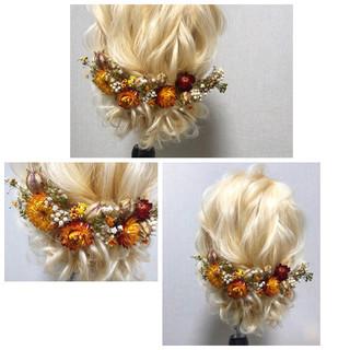 ヘアアレンジ 結婚式 ロング 簡単ヘアアレンジ ヘアスタイルや髪型の写真・画像