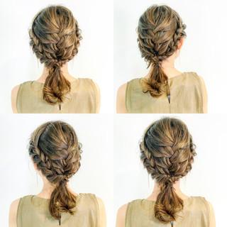 女子会 エレガント デート セミロング ヘアスタイルや髪型の写真・画像