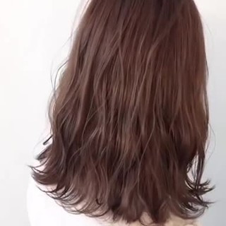 オレンジブラウン ナチュラルブラウンカラー エレガント ピンクブラウン ヘアスタイルや髪型の写真・画像