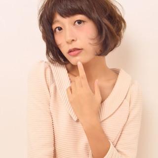 ガーリー フェミニン 大人かわいい ショートボブ ヘアスタイルや髪型の写真・画像